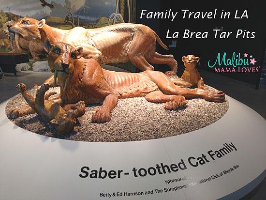 family travel la brea tar pits